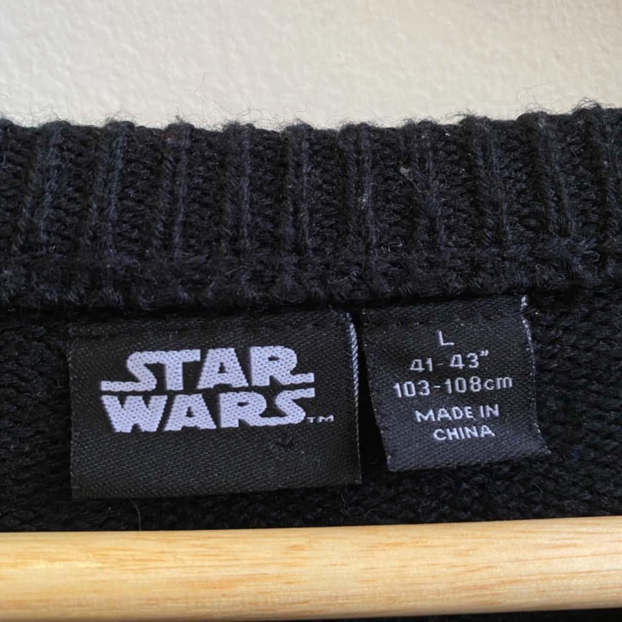 """Star Wars Mens Darth Vader """"Merry Sithmas"""" Knit Jumper Size L"""