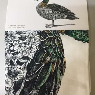 NWT Maxwell Williams Marini Ferlazzo Collection @Chestnut Teal Duck@ Tea Towel