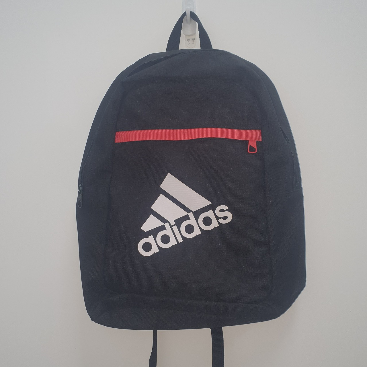Black Adidas Sport Backpack With Front Zip Pocket