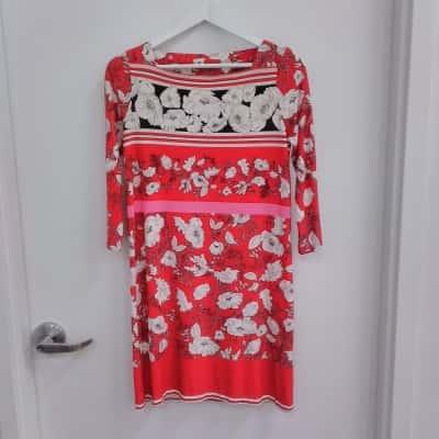 Women's Jane Lamerton Floral Red Dress Size 8