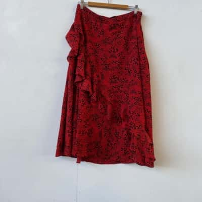 Seed Heritage Womens  Size 14 Midi/maxi Black /Red