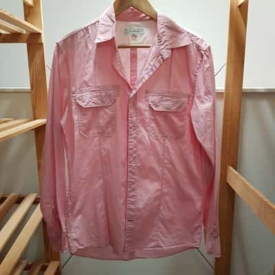 Country Road Mens Long Sleeve/Business Shirt Pink /White  Size XS