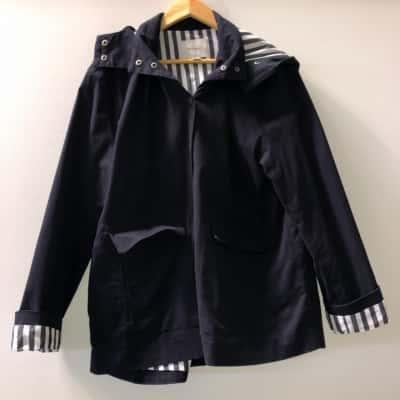 Trenery Womens Hooded Jacket Size XL Blue