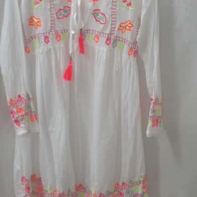 Ruby Yaya Midi Dress White Size S.
