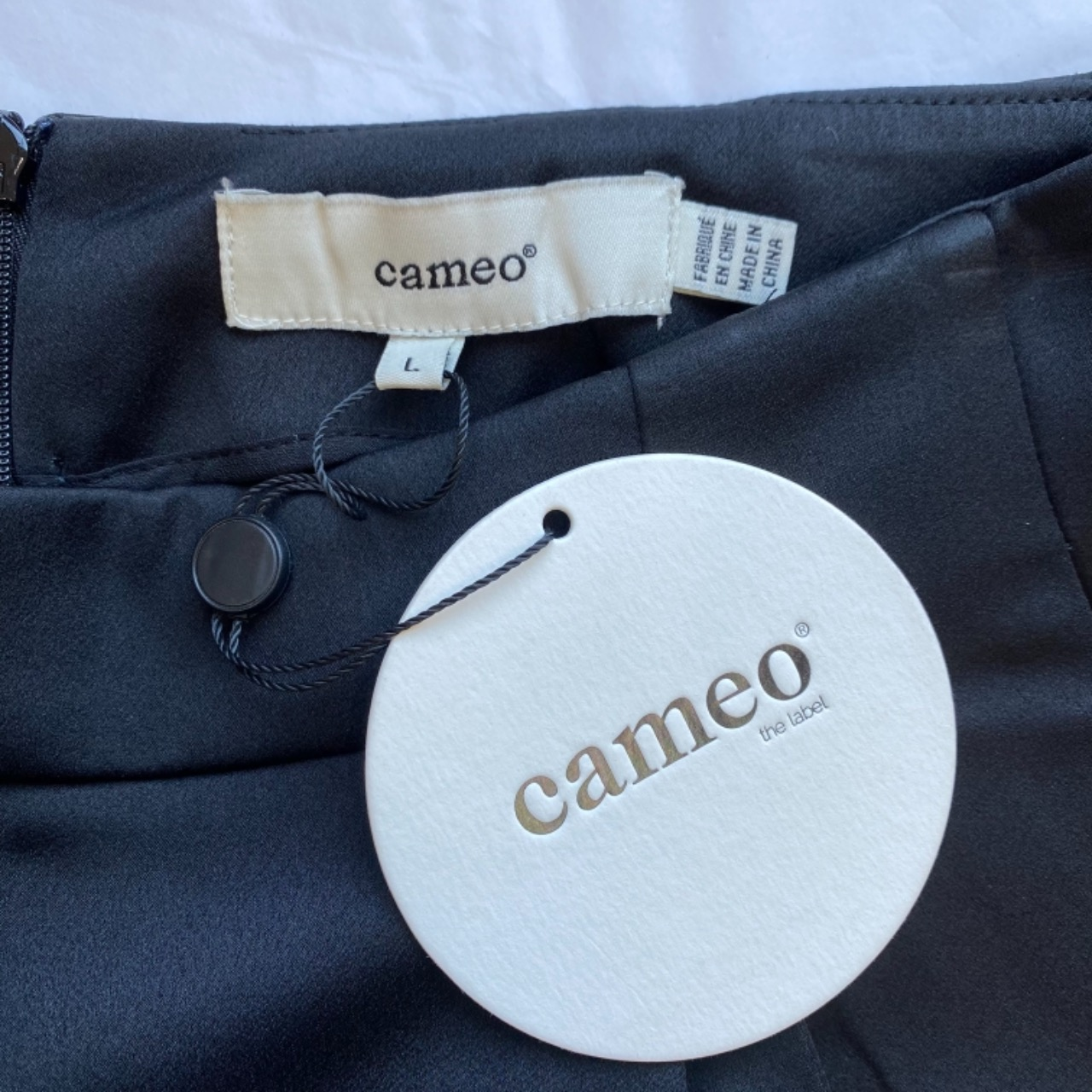 ** REDUCED ** Cameo The Label Women's Wide Leg Pants Size L Black - New With Tags