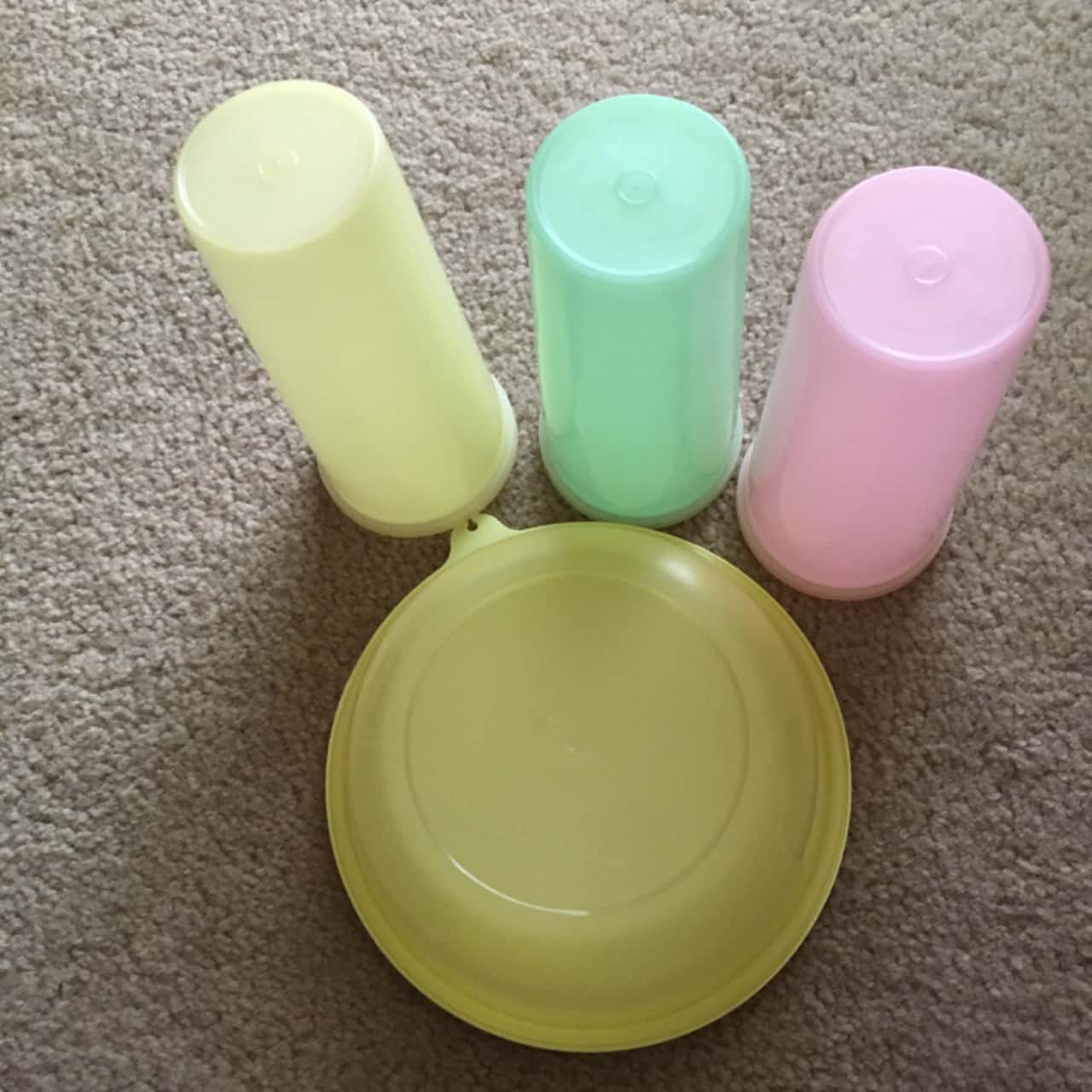 Tupperware Assorted Colourful Boxes - Set of 4