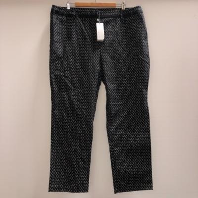 W.Lane Women's Pants Size 18 Black Patterned