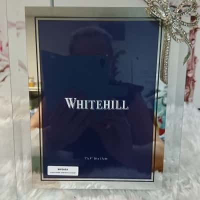 """Whitehill 7""""x5"""" Decorated Glass Photo Frame"""