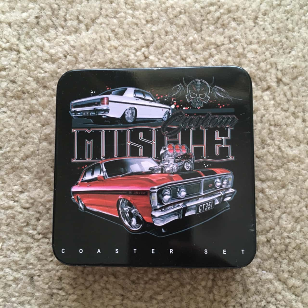 Muscle Coaster Set with Fridge Magnet