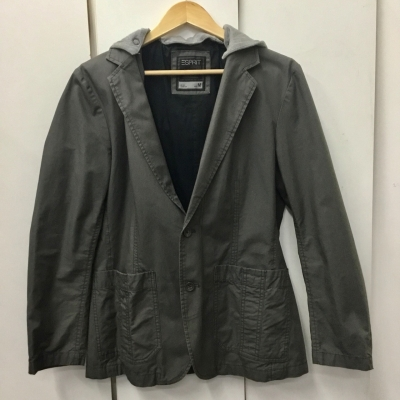Esprit Mens Two Toned Jacket with hood Grey