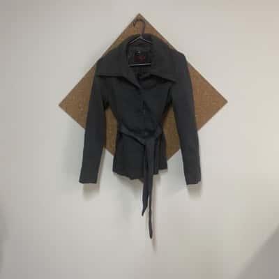 Trench Coat Size 12 Grey