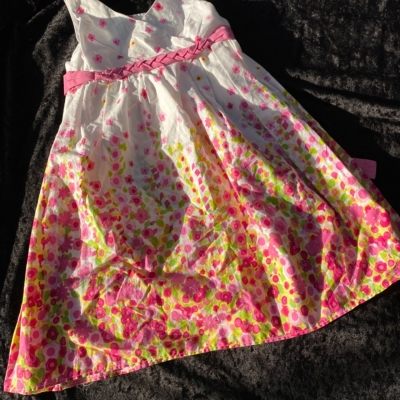 Girls JONA MICHELLE Sweet Summer dress Size 4  Green/Pink /White/Yellow Floral