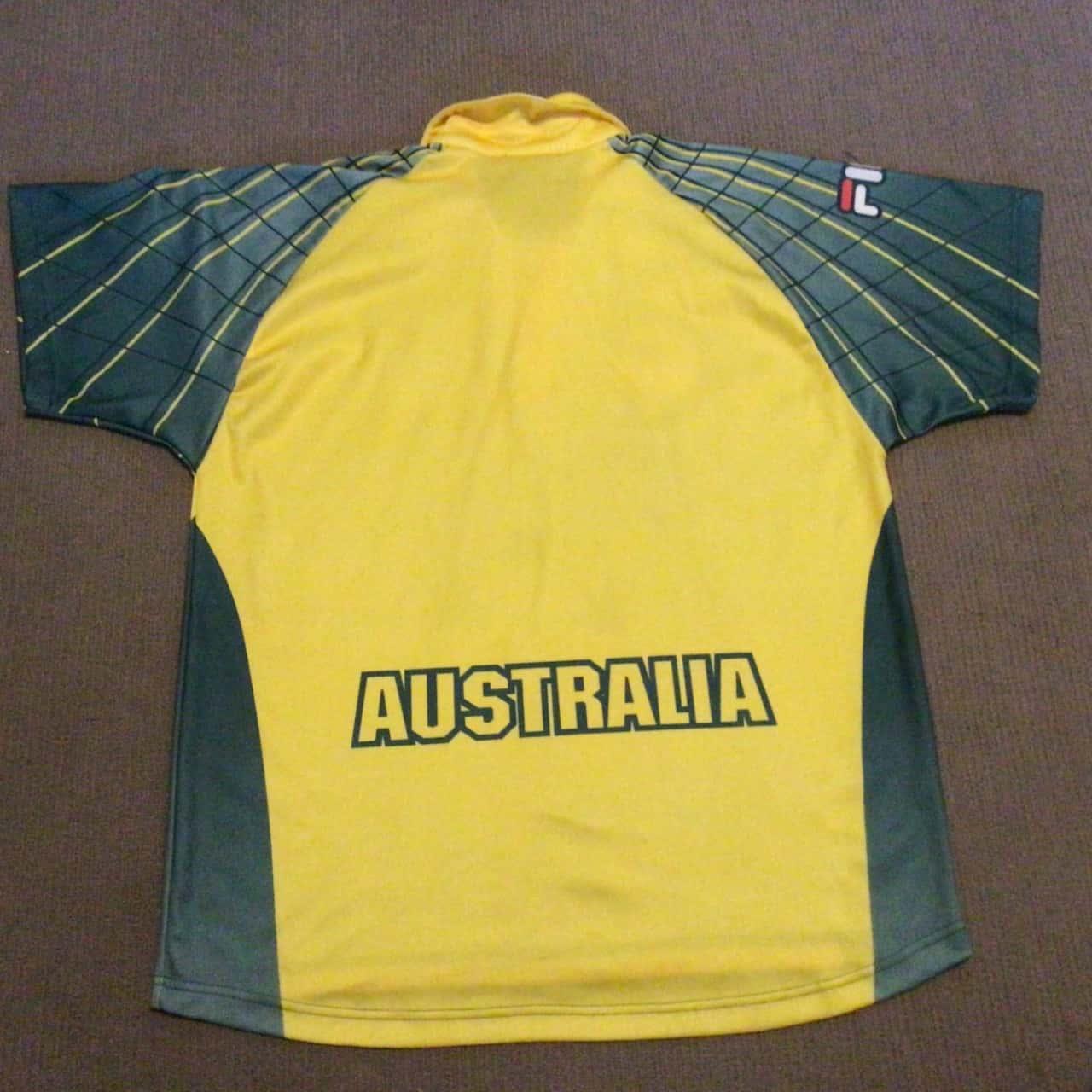 Mens. FILA CRICKET AUSTRALIA SHIRT  Size S Yellow
