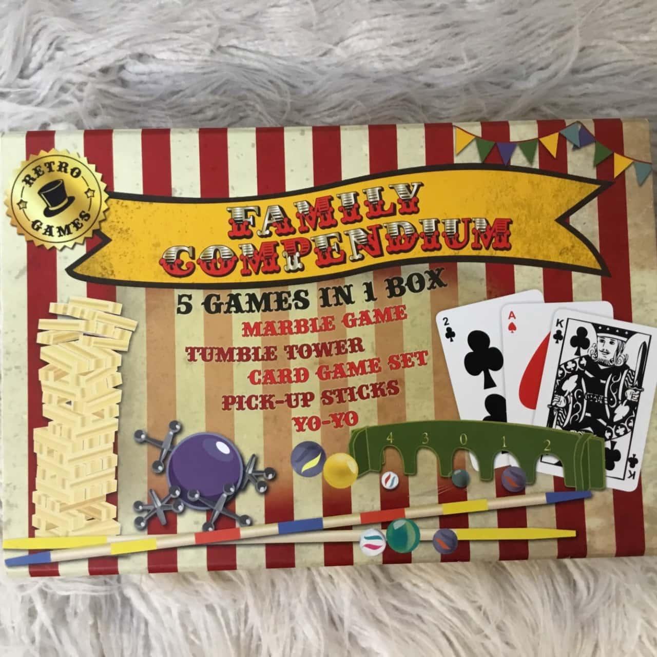 """Family Compendium """"5 Games In 1 Box"""""""