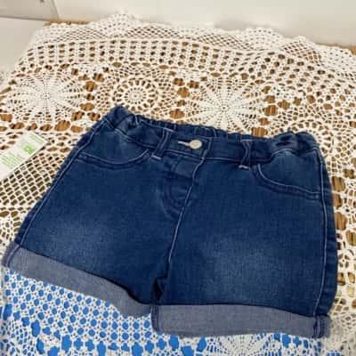 Kids girls size 4 denim shorts bnwt