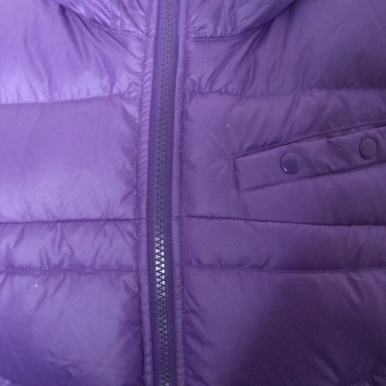 BNWT NIKE Womens  Hooded Puffer Jacket Purple Size Small Duck Down Fill