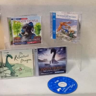 Bundle of 4 kids audiobooks with bonus  The giggler treatment,  The Phoenix and the carpet,The reluctant dragon and The water horse