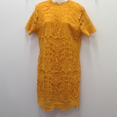 SAMBARA Mustard Colour Heavy Lace Size 14 Cocktail Dress/Midi Dress/Party Dress