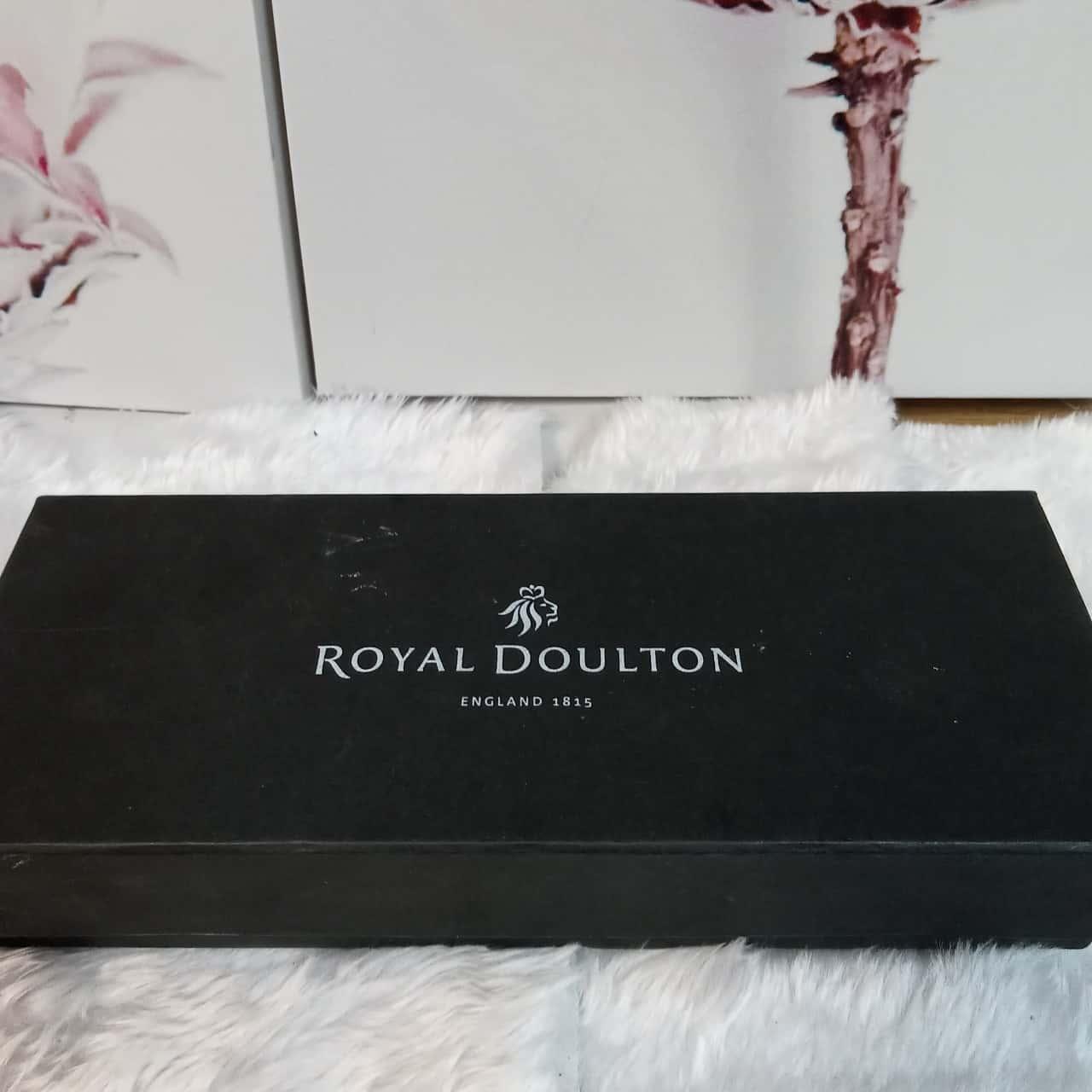 Royal Doulton 3x glass photo frames