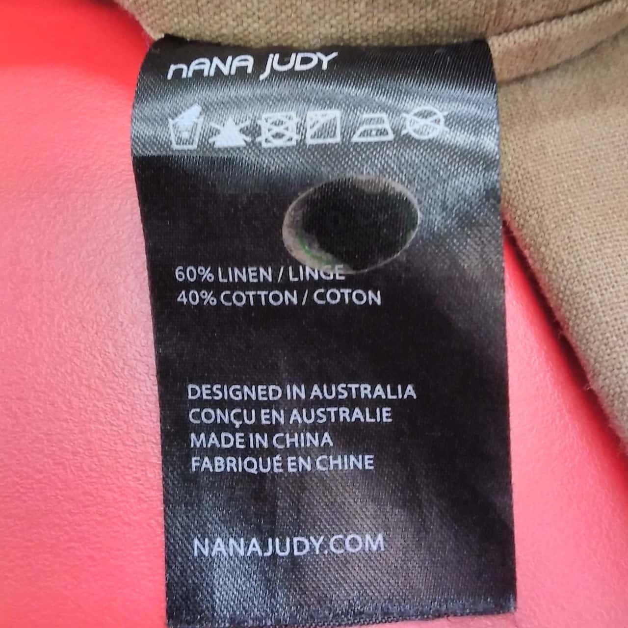 Nana Judy Mens Size L Brown Jacket