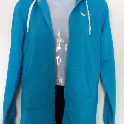 BNWT Womens  NIKE Hooded Jacket with Zipper Size L Blue