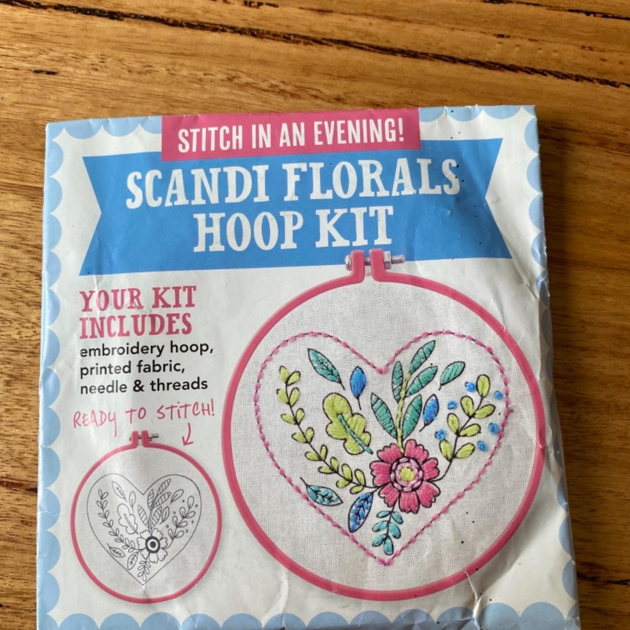 Zeena  Shah Stitch In An Evening Scandi Florals Hoop Kit