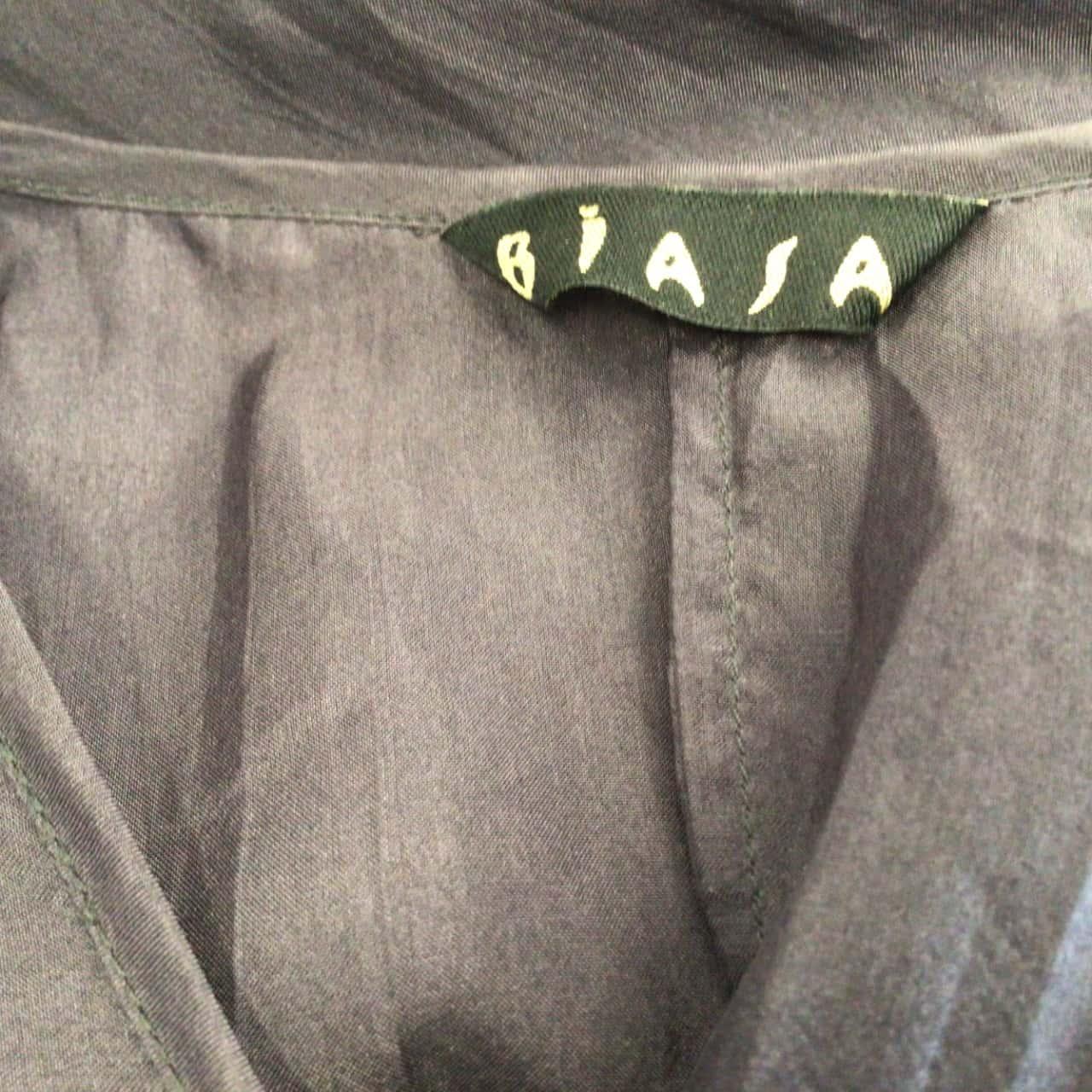 Womens BIASA SILK KAFTAN ( Over Swimwear)  GREY