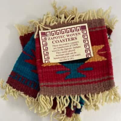 Hand woven coasters