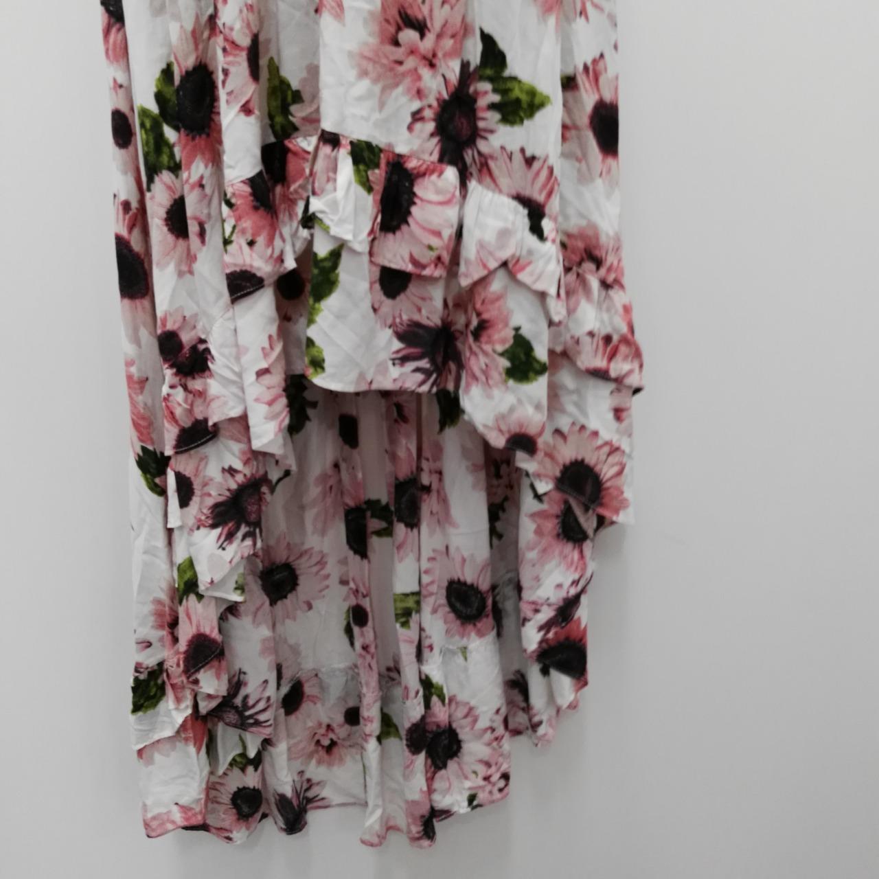 BNWT ANGEL BIBA Summer Dress Womens   Size 8  White/Pink /Green/Purple