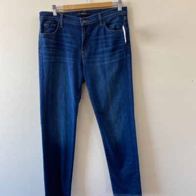 J Brand Women's Size 28 (10 Australian) Mid Rise Boy Fit Jeans Blue- New With Tags