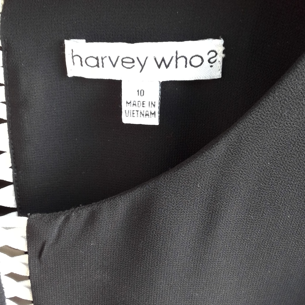 Womens HARVEY WHO Long Sleeve Top Corporate /Business Black /Cream Size 10
