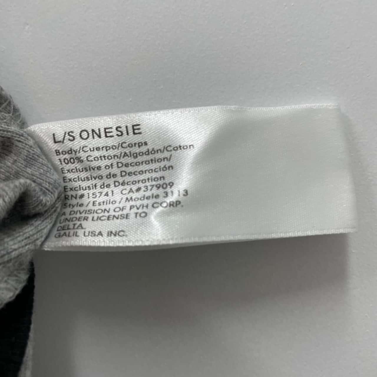 CALVIN KLEIN Baby Size 6-9mths Onesie Black /Grey