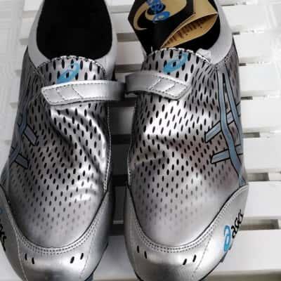 Asics Mens  Size 8 Blue/Silver Sport Shoes