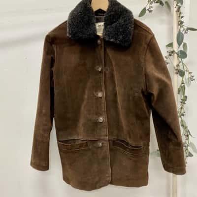 Vintage Just Jeans Size 8 Brown Suede Jacket