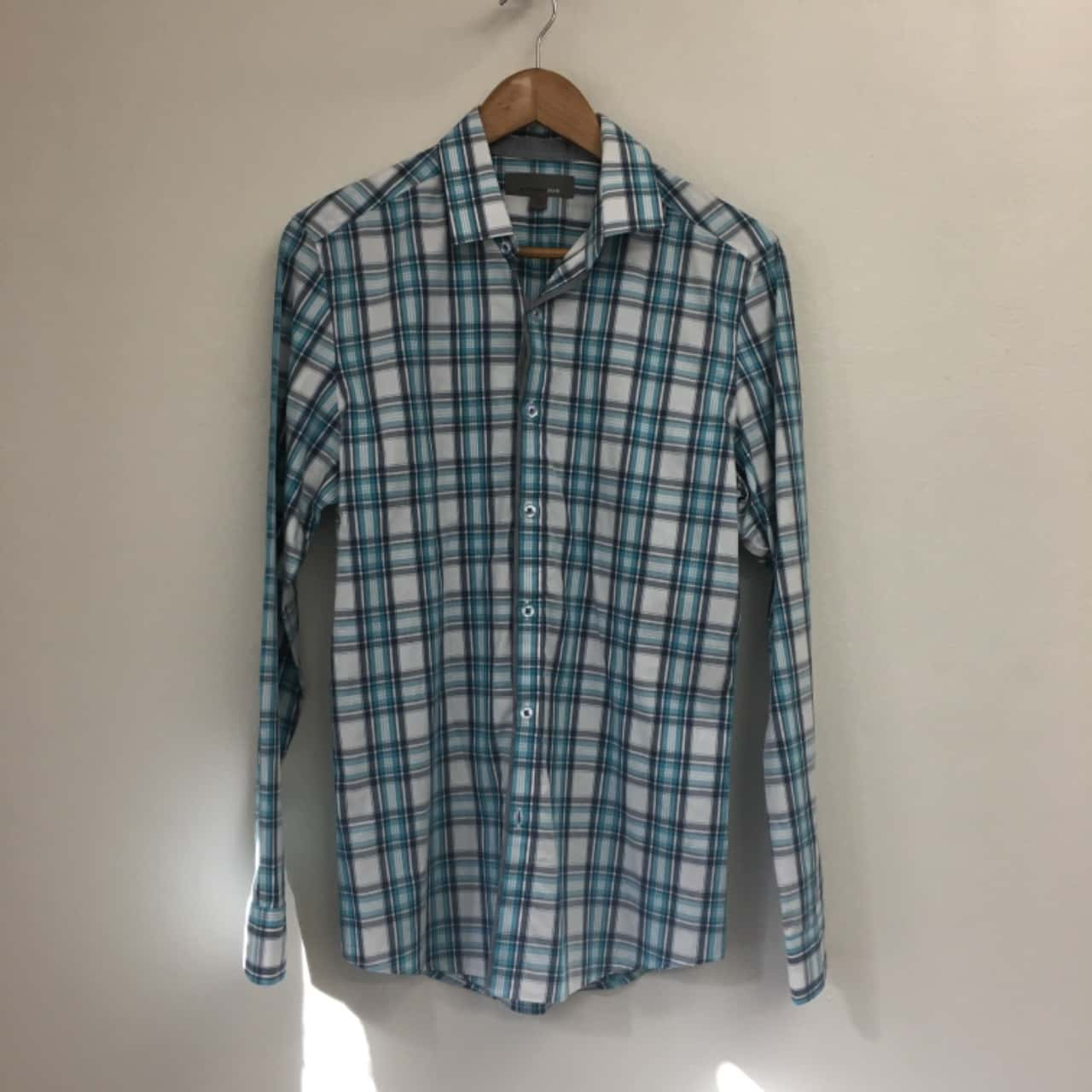 Witchery Mens  Size XS Long Sleeve Blue/White