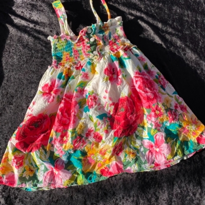 DKNY Girls Size 4 Dresses & Skirts Floral/Multicoloured/White