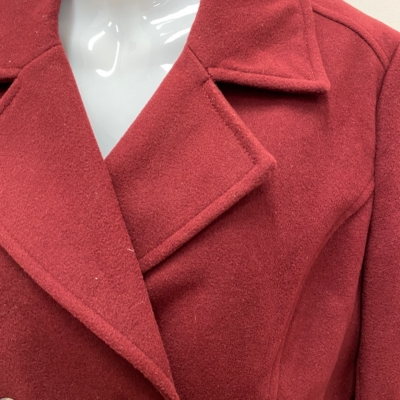 THE COLLECTION - DEBEN HANDS  Size 14 Double Breasted Coat Jacket - Maroon