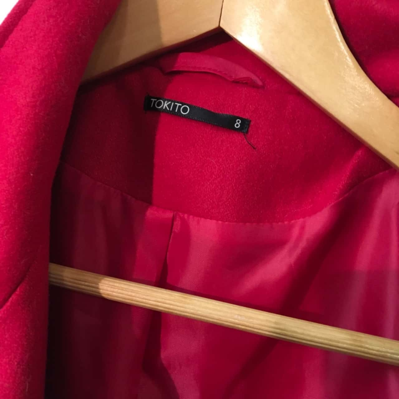 Tokito Womens Size 8 Coat Red