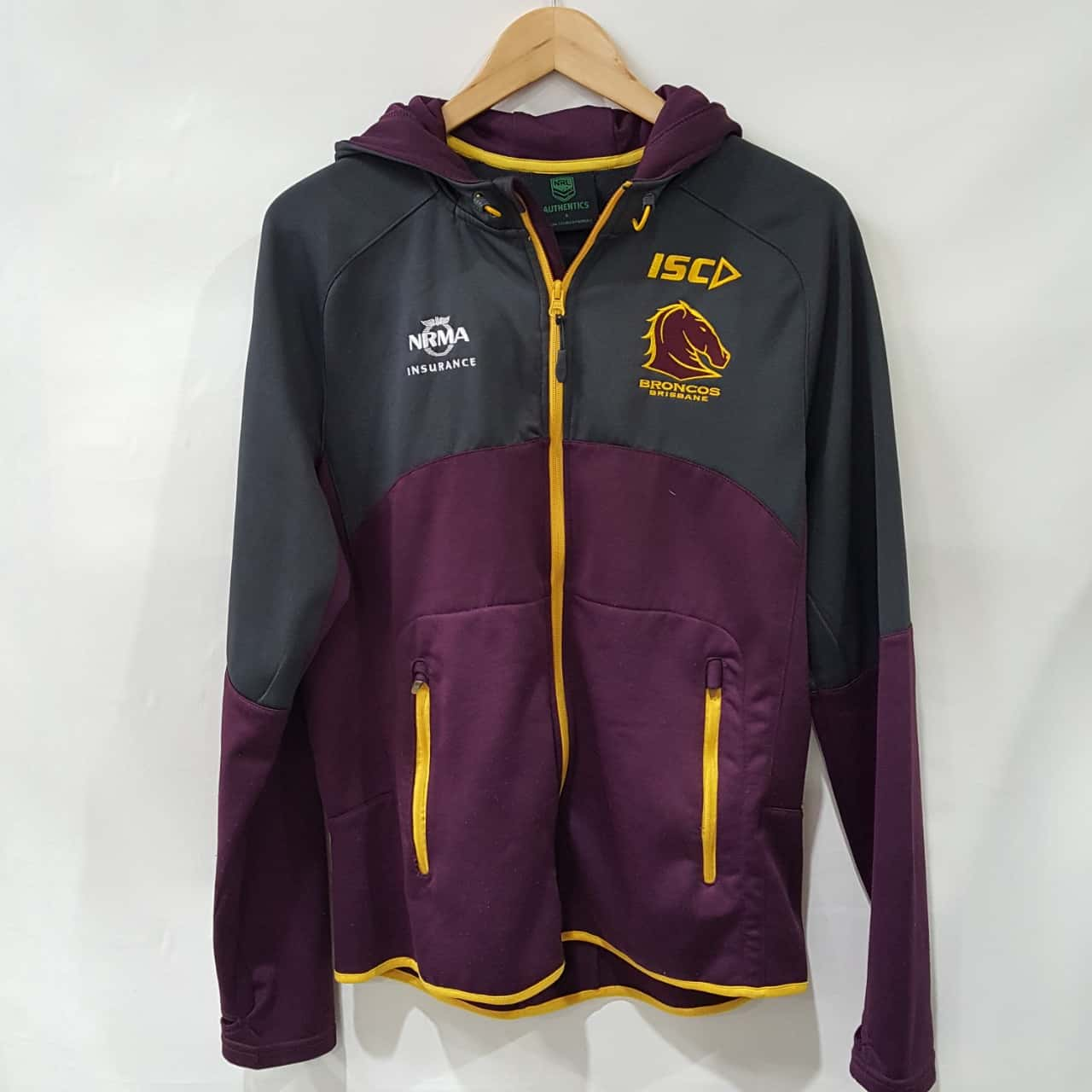NRL Broncos Men's Jacket  with Hood Size S