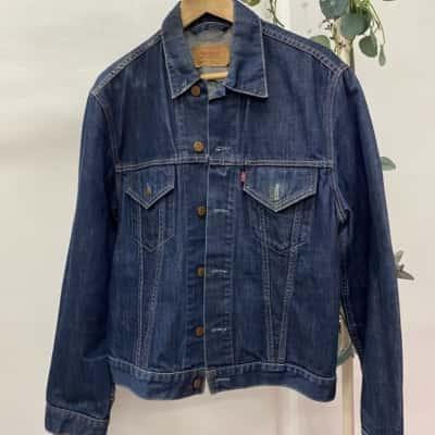 Levis Mens Size L Denim Jacket Blue As New
