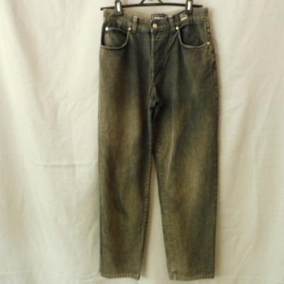 Versace Mens Dark Grey Denim Jeans with Versace Medallion on Back Size 34 UAF