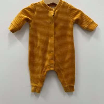 Kids Onesie Orange Corduroy