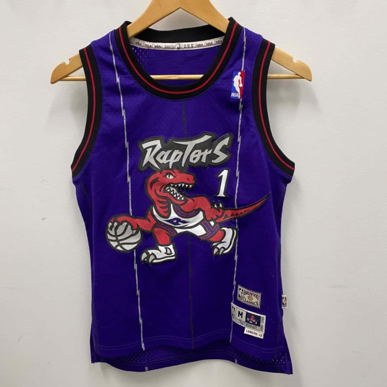 MITCHELL & NESS NBA Youth Toronto Raptors Tracy McGrady 1998 - 1999 Jersey Size Youth M Purple