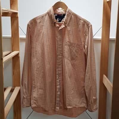 Tommy Hilfiger Mens Shirt  Blue/Orange  Size M