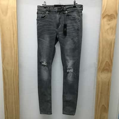 Stray, Distressed grey skinny jeans, Size 10, NWT, RRP $119.99