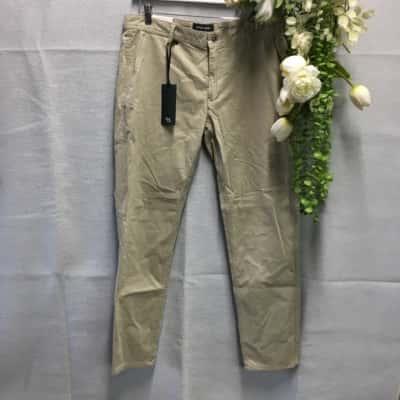 Rodd & Gunn Mens Chino Pants Size 34 Dark Beige RRP $ 179