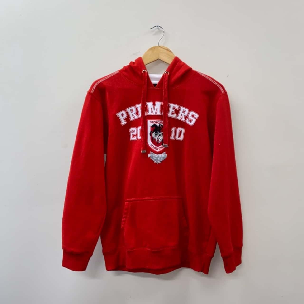 ** REDUCED LAST CHANCE ** Team NRL Boys Size 14y Red St. George Illawarra Dragons 2010 Premiers Hoodie