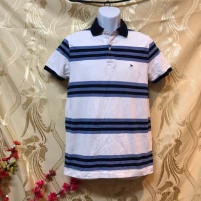 Tommy Hilfiger Mens  Size M Short Sleeve Blue/White