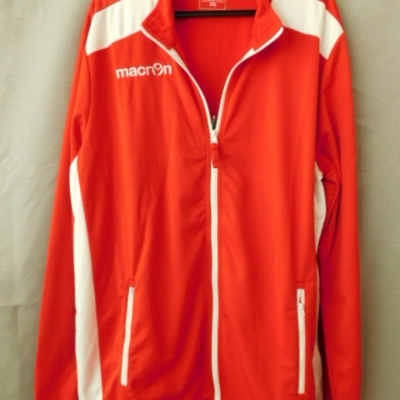 Macron Men's Red with White Detailing Zipped Front Jacket Size 3XL NWT
