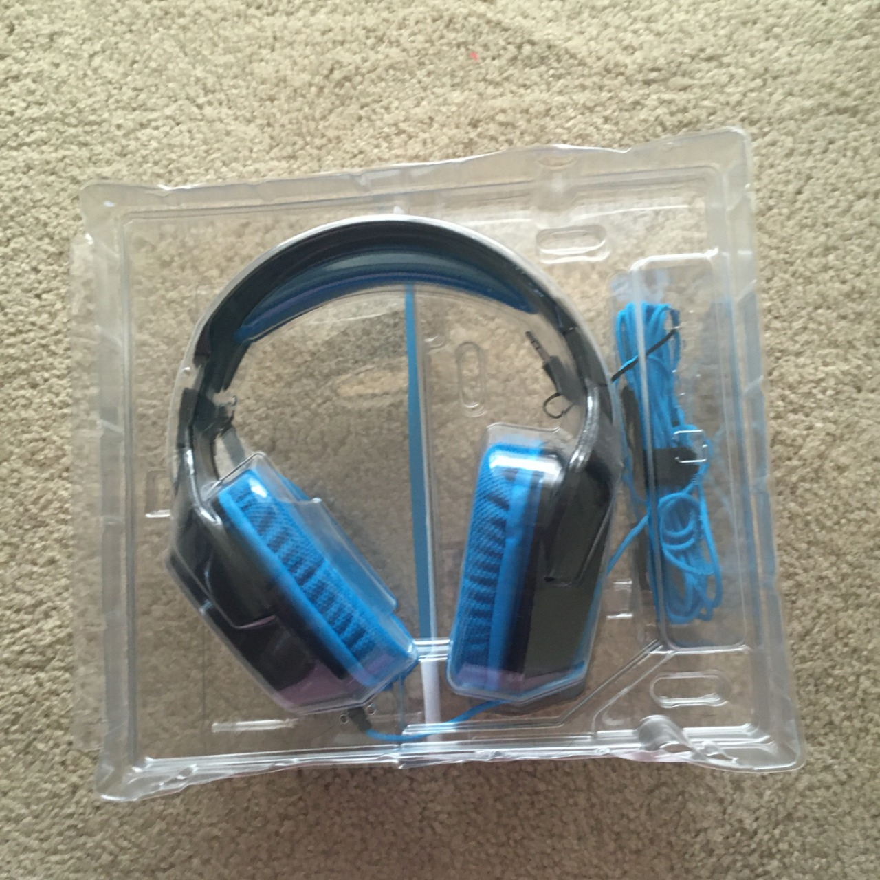 Logitech G430 Gaming Headset, Blue/Black - Used As New